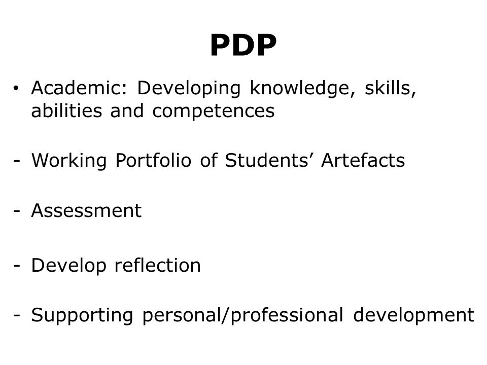 PDP Academic: Developing knowledge, skills, abilities and competences