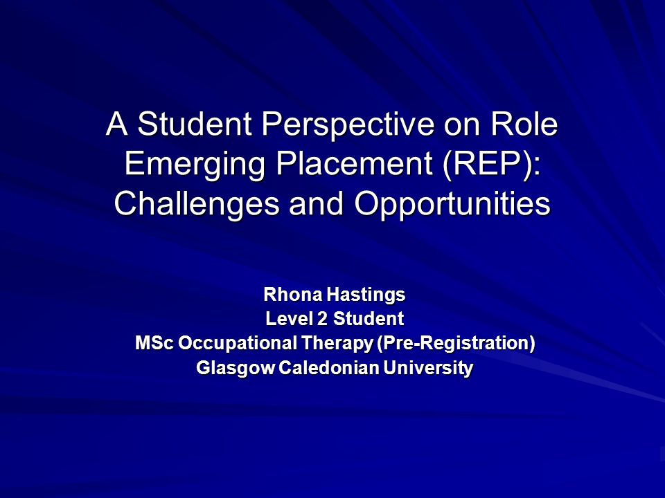 A Student Perspective on Role Emerging Placement (REP): Challenges and Opportunities