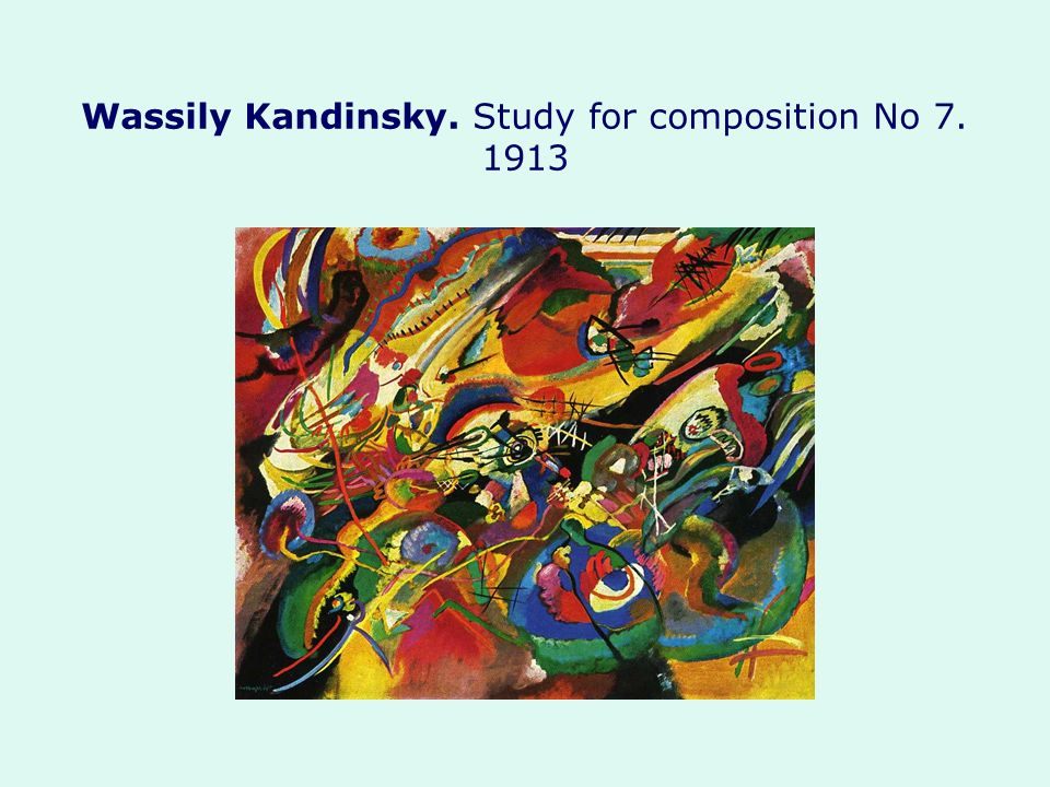 Wassily Kandinsky. Study for composition No