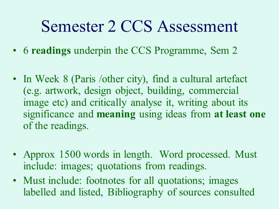 Semester 2 CCS Assessment