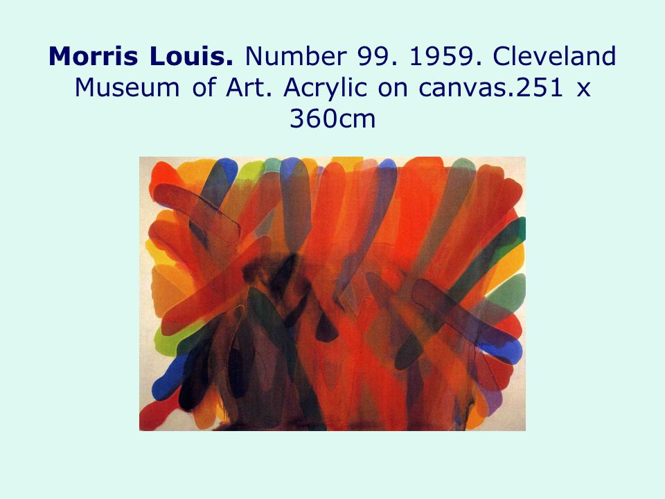 Morris Louis. Number Cleveland Museum of Art