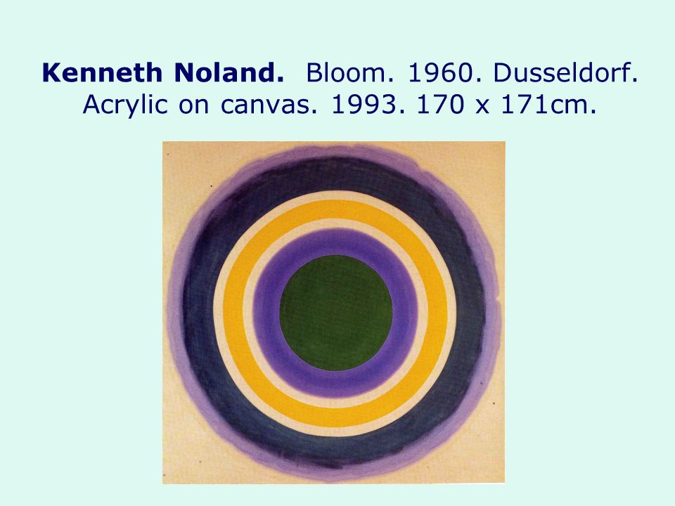 Kenneth Noland. Bloom Dusseldorf. Acrylic on canvas. 1993