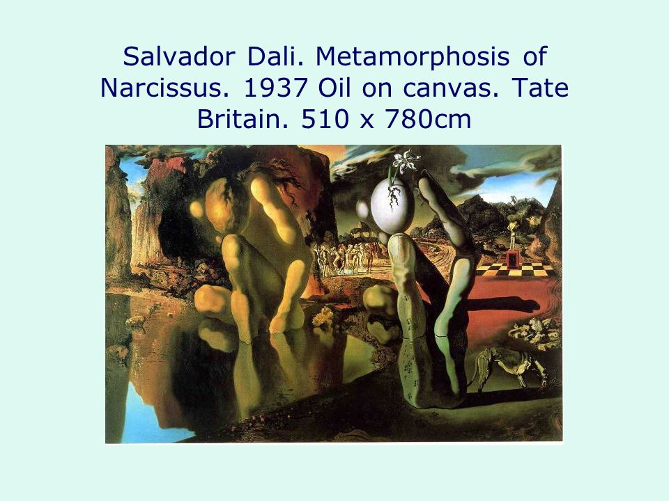 Salvador Dali. Metamorphosis of Narcissus. 1937 Oil on canvas