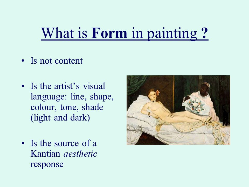 What is Form in painting