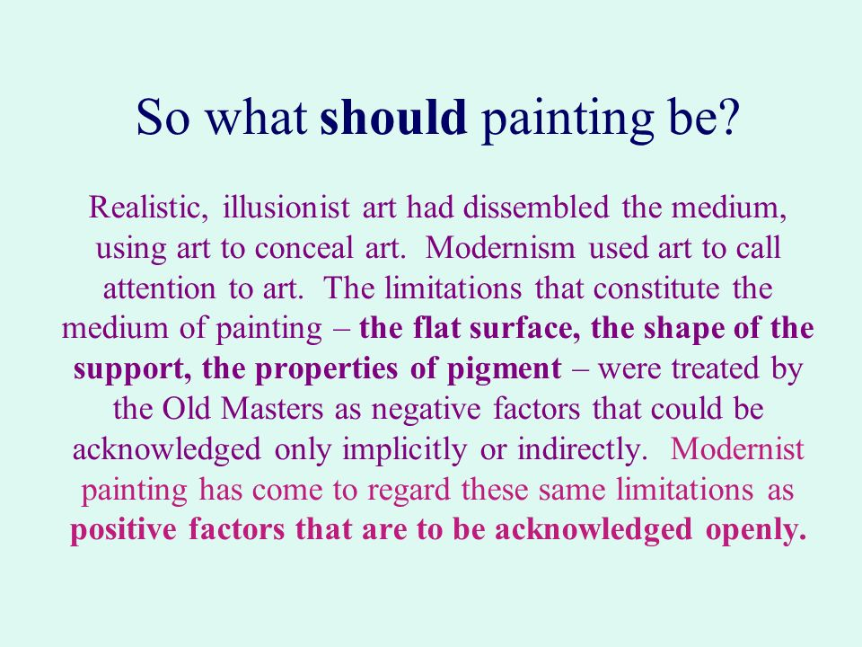 So what should painting be