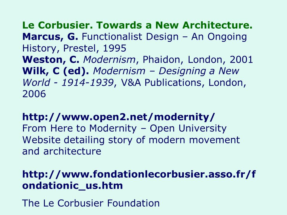 Le Corbusier. Towards a New Architecture. Marcus, G