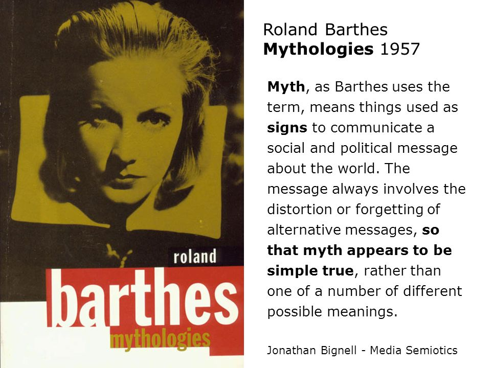 Roland Barthes Mythologies 1957