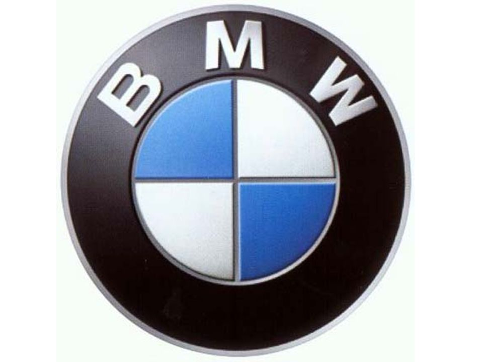 In the same way - we can look at the brand 'BMW' the symbol 'denotes' the letters BMW and a blue and white checked pattern.