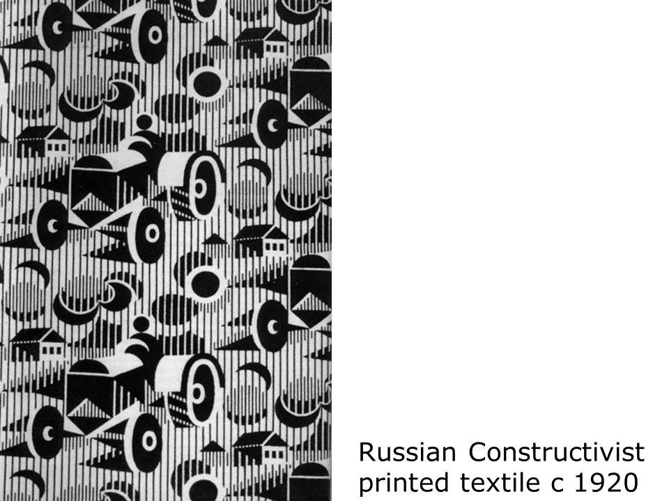 Russian Constructivist printed textile c 1920