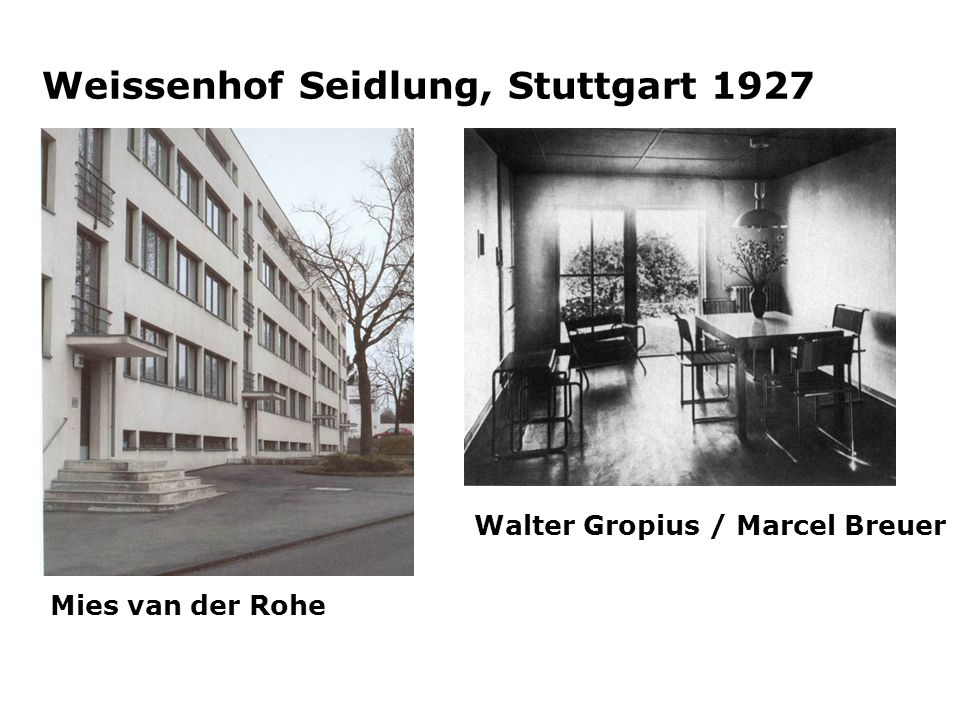 Weissenhof Seidlung, Stuttgart 1927