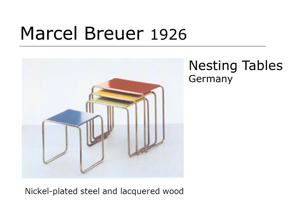 Marcel Breuer 1926 Nesting Tables Germany