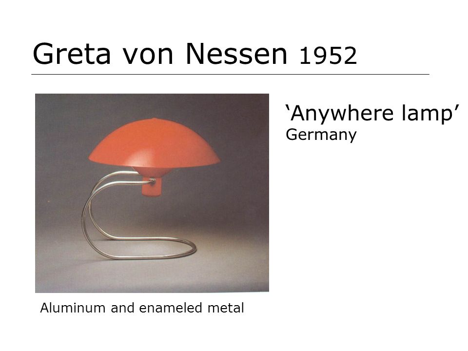Greta von Nessen 1952 'Anywhere lamp' Germany