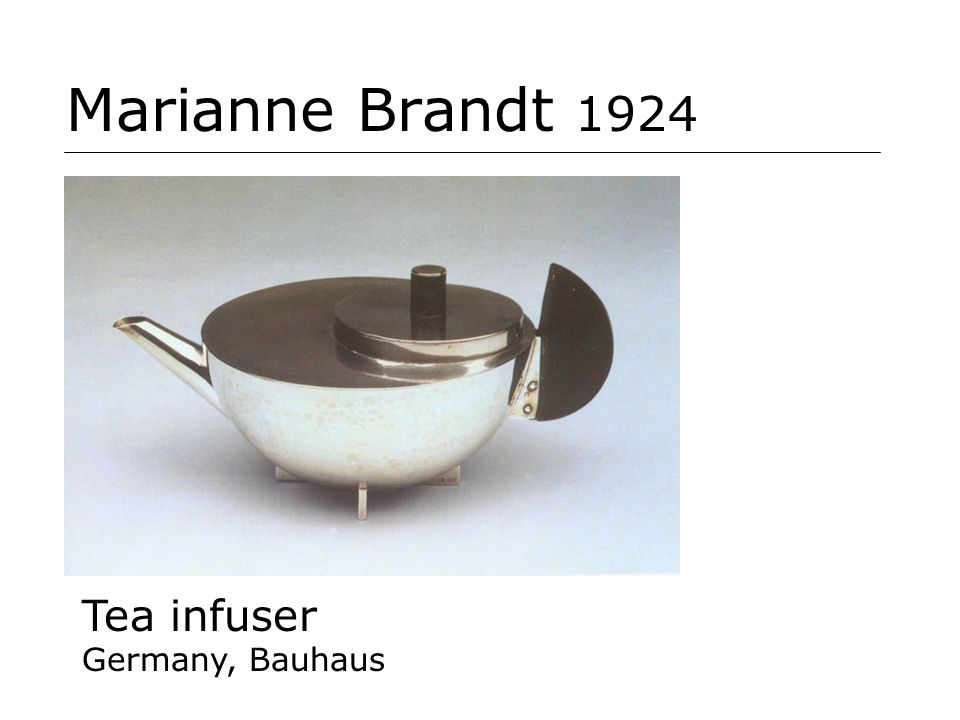 Marianne Brandt 1924 Tea infuser Germany, Bauhaus
