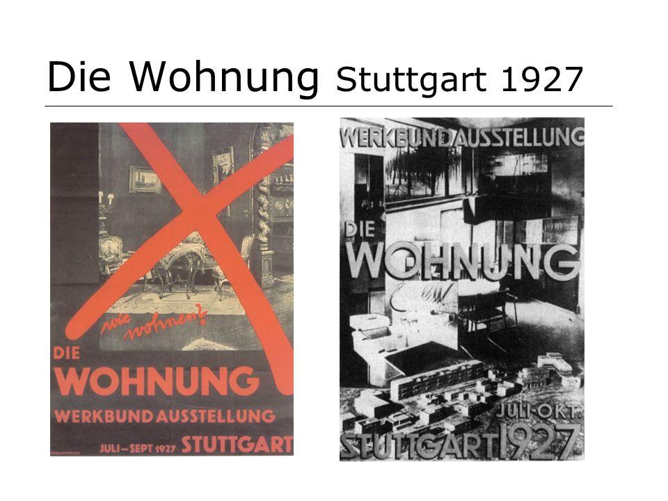 Die Wohnung Stuttgart 1927 Die Wohnung - the dwelling - exhibition Stuttgart 1927. Examples of 'modern living'