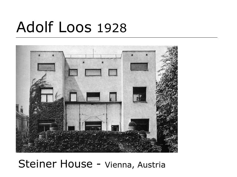 Adolf Loos 1928 Steiner House - Vienna, Austria
