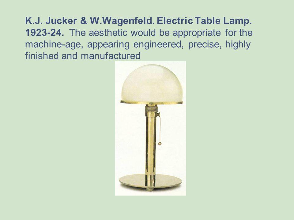 K. J. Jucker & W. Wagenfeld. Electric Table Lamp. 1923-24