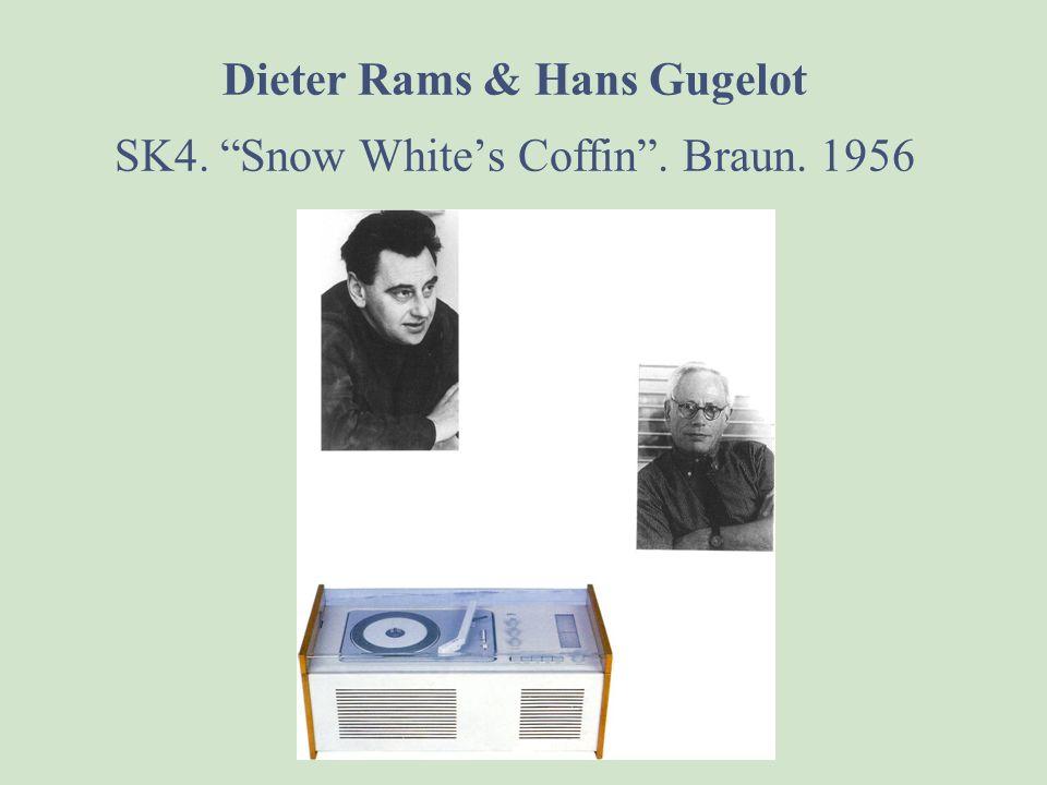 Dieter Rams & Hans Gugelot SK4. Snow White's Coffin . Braun. 1956