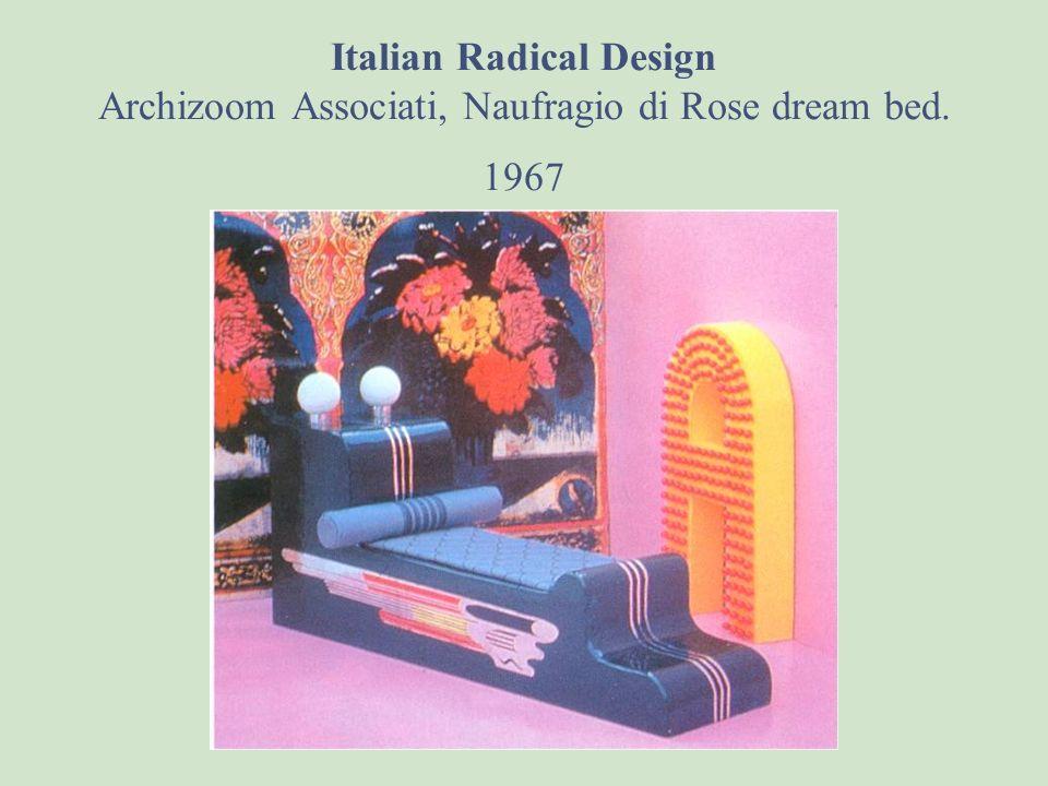 Italian Radical Design Archizoom Associati, Naufragio di Rose dream bed. 1967