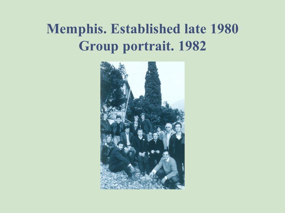 Memphis. Established late 1980 Group portrait. 1982