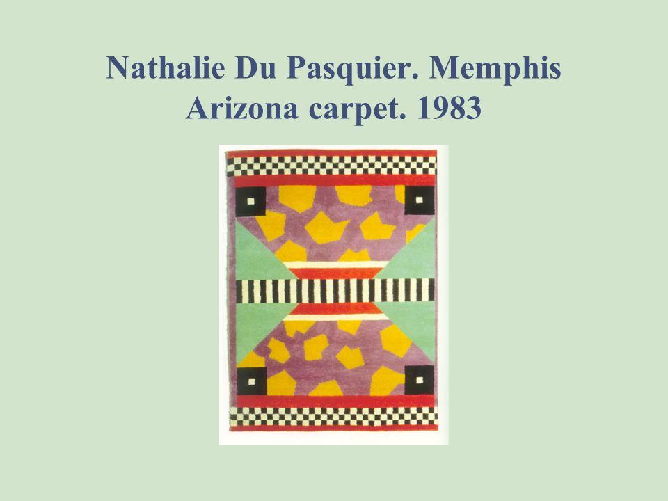 Nathalie Du Pasquier. Memphis Arizona carpet. 1983
