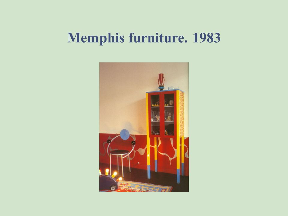 Memphis furniture. 1983 Superlamp by Martine Bedine