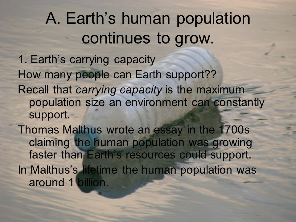 human impact on ecosystems ppt video online a earth s human population continues to grow