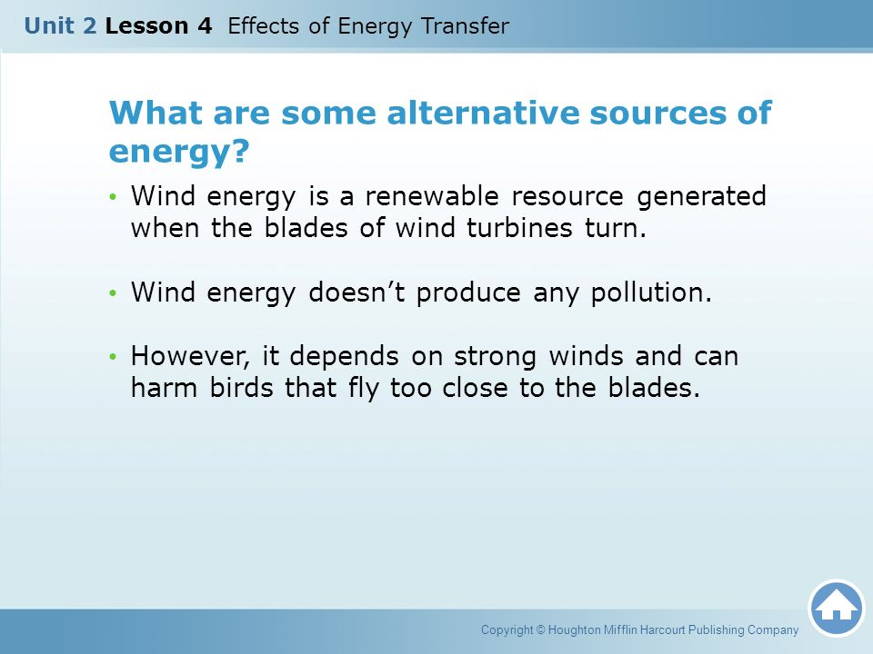 What are some alternative sources of energy