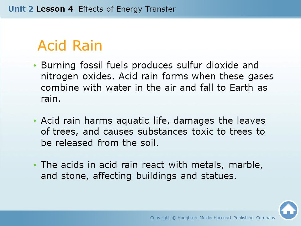 Unit 2 Lesson 4 Effects of Energy Transfer