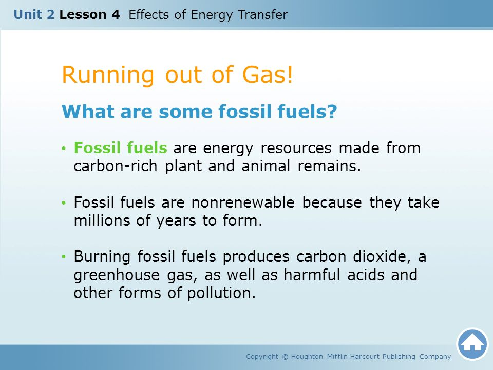 Running out of Gas! What are some fossil fuels