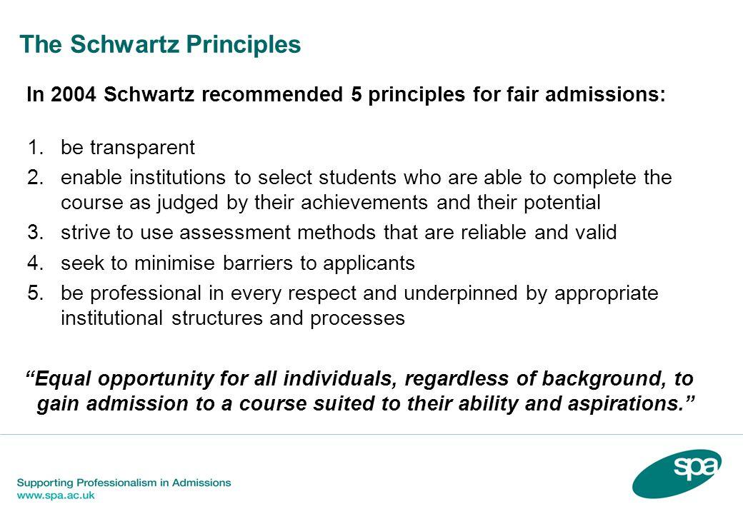 The Schwartz Principles