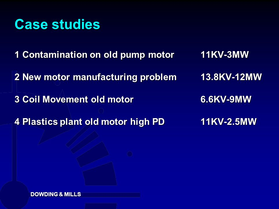 Case studies 1 Contamination on old pump motor