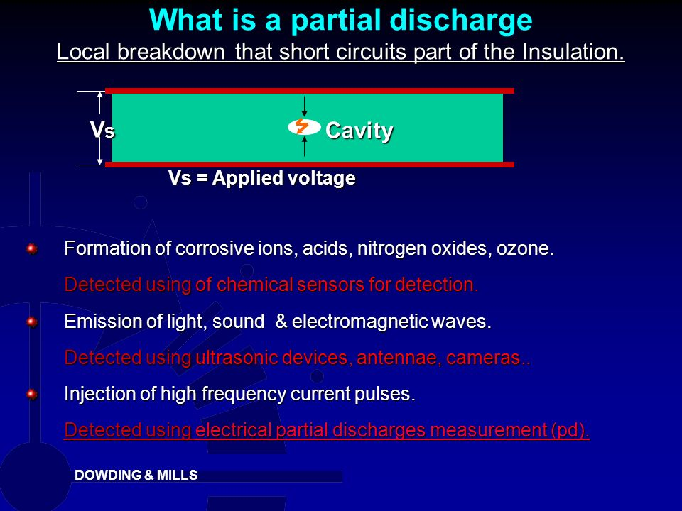 What is a partial discharge