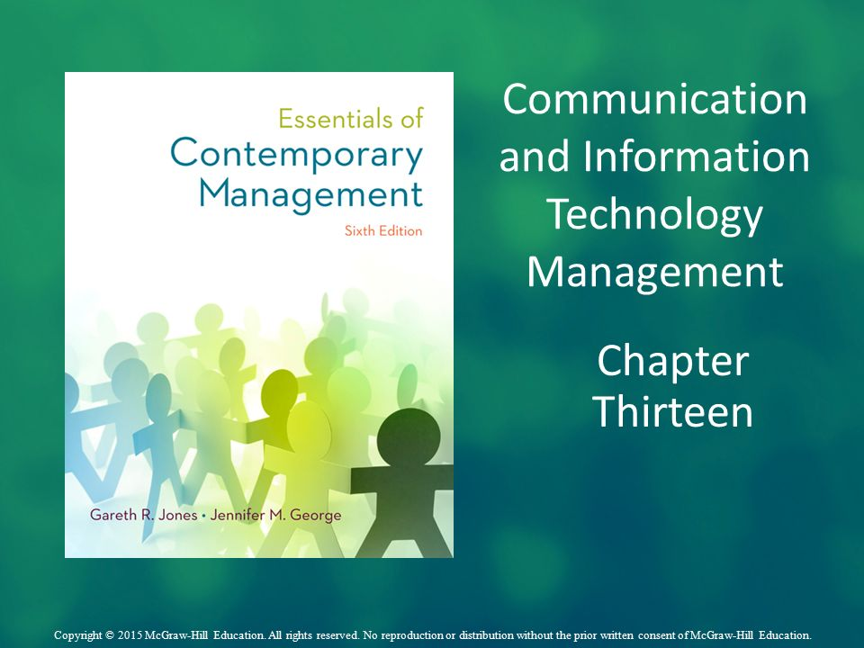 managing communications and information technology The definitions and ideas applied to information and communication technologies and the needs of the economy for management technology enthusiasts.