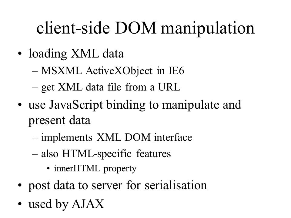 client-side DOM manipulation