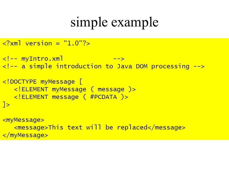 simple example < xml version = 1.0 >