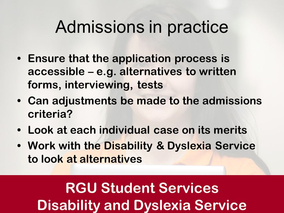Admissions in practice