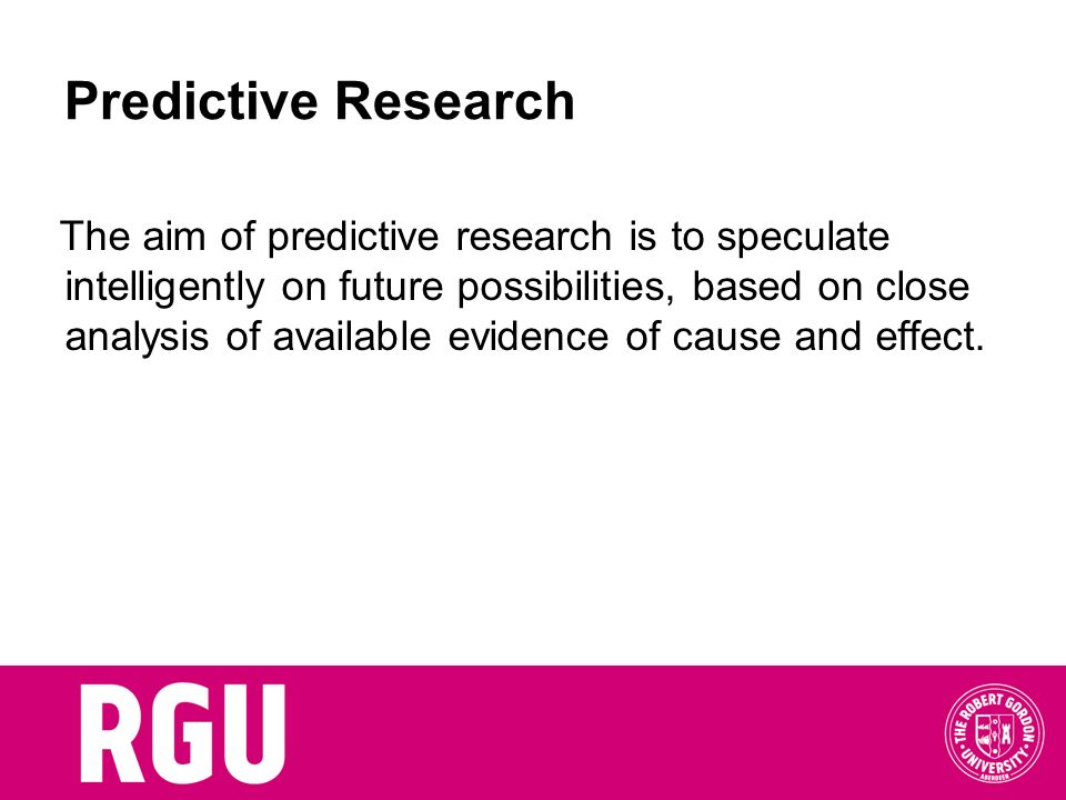 Predictive Research