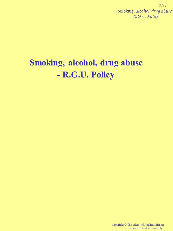 Smoking, alcohol, drug abuse
