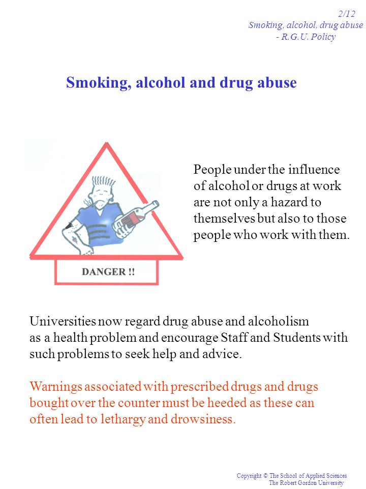 Smoking, alcohol and drug abuse