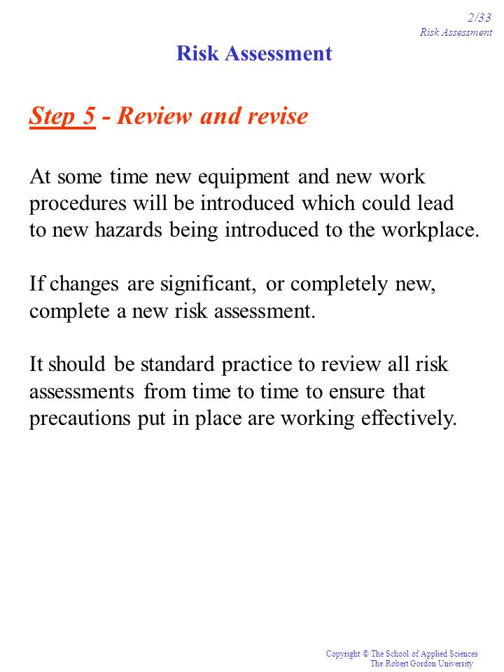Step 5 - Review and revise