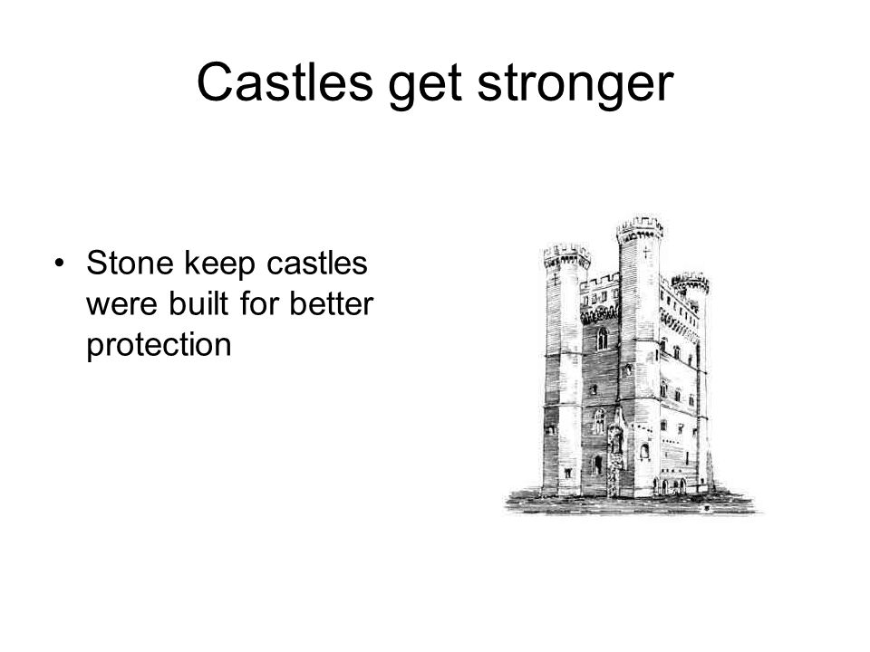Castles get stronger Stone keep castles were built for better protection