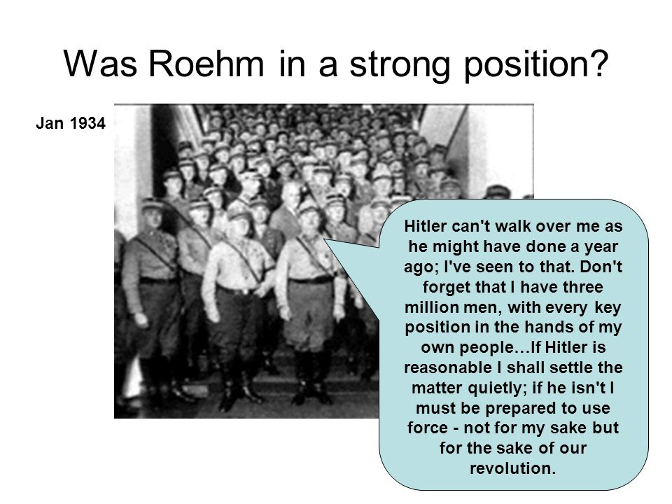 Was Roehm in a strong position