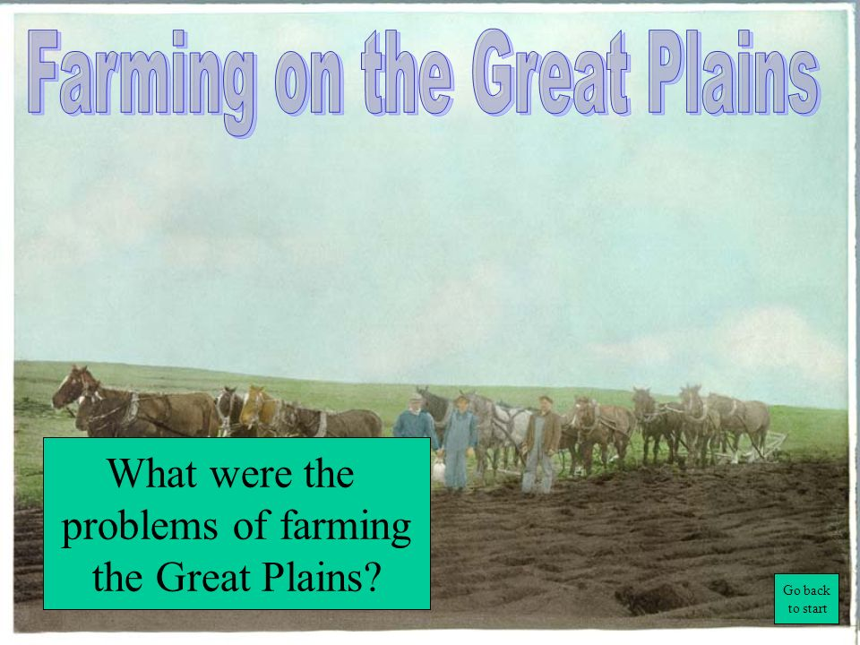 Farming on the Great Plains