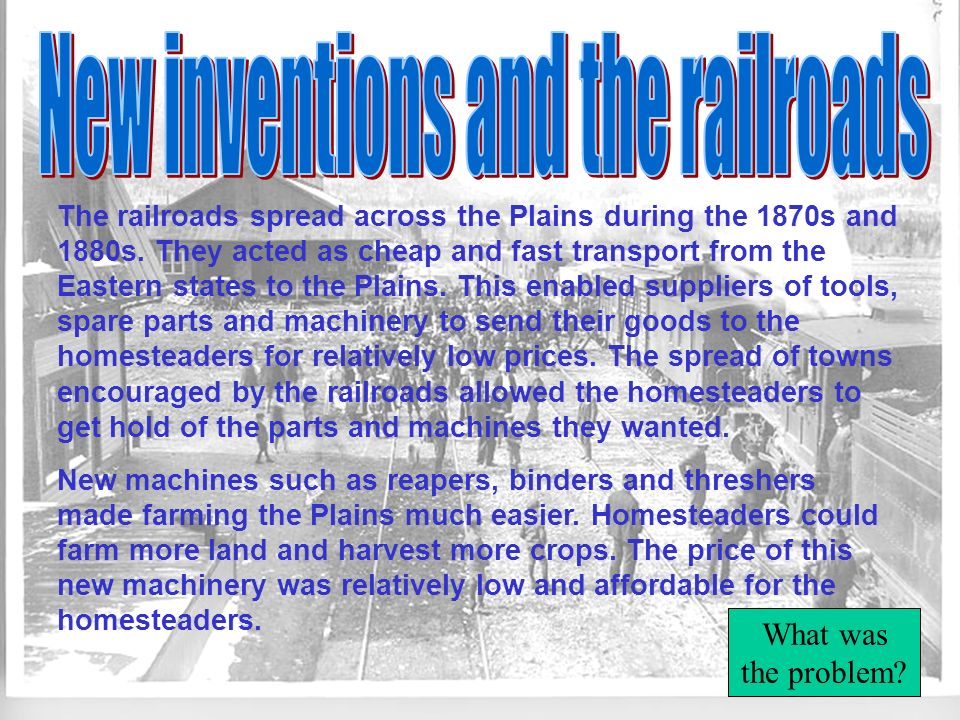 New inventions and the railroads