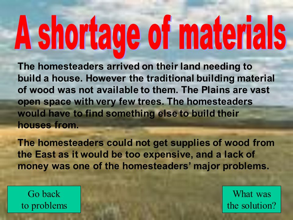 A shortage of materials