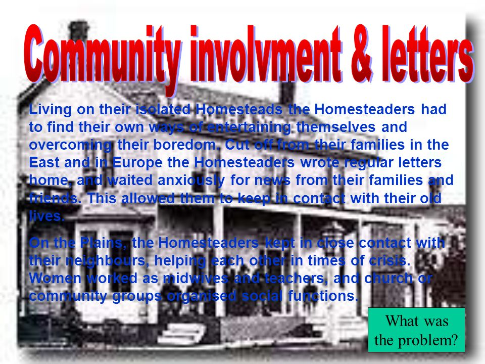 Community involvment & letters