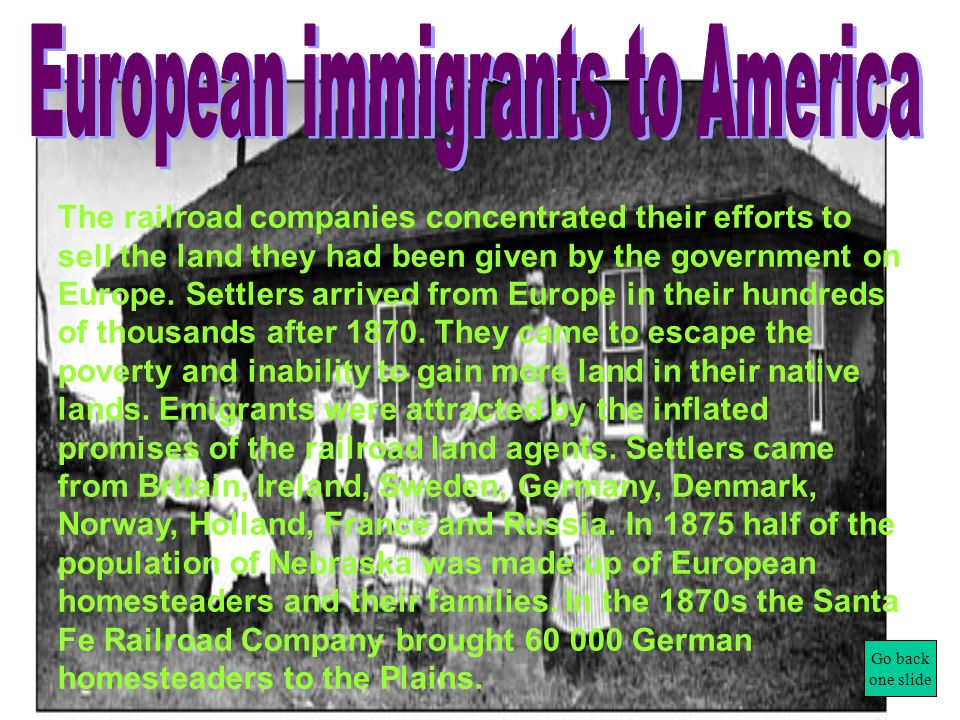 European immigrants to America