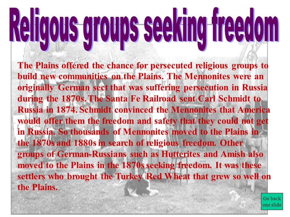 Religous groups seeking freedom