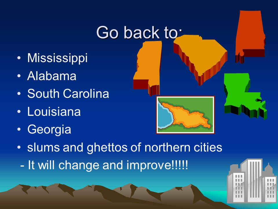 Go back to: Mississippi Alabama South Carolina Louisiana Georgia