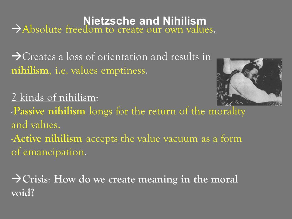 nihilism and nietzsche Amazoncom: nietzsche: vols 3 and 4 (vol 3: the will to power as knowledge  and as metaphysics vol 4: nihilism) (9780060637941): martin heidegger,.